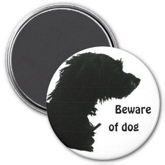 Beware of Dog 3 Inch Round Magnet