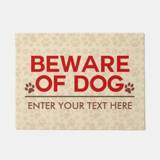 Beware of Dog Custom Text Doormat