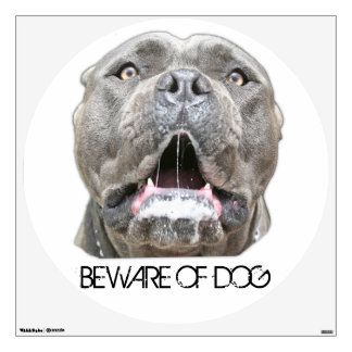 Beware of Dog Decal - Snarling Dog