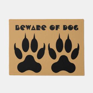 """""""Beware of Dog"""" Doormat"""