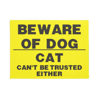 Beware Of Dog Doormat