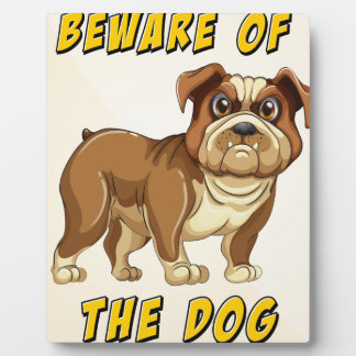 Beware of dog plaques