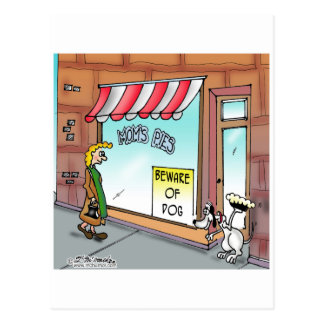 Beware of Dog Postcard