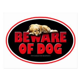 Beware of Dog... Postcard