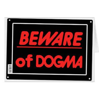 Beware of Dogma Atheist Card