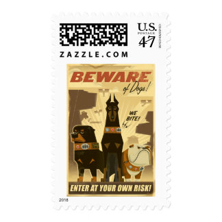Beware of Dogs! Poster - Disney Pixar UP! Postage