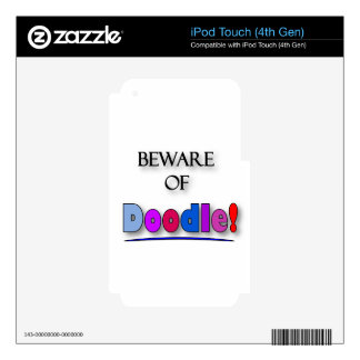 Beware of Doodle iPod Touch 4G Decal