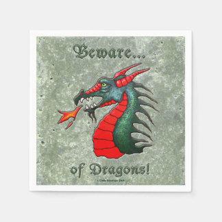 Beware of Dragon Disposable Napkin