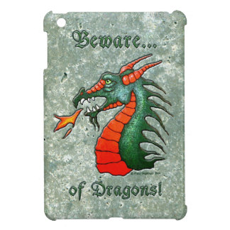 Beware of Dragons Faux Stone iPad Mini Cases