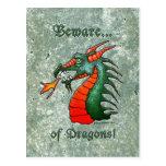 Beware of Dragons Post Card