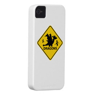 Beware of Dragons Warning Sign iPhone 4 Case-Mate Case