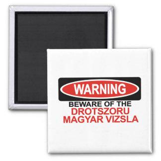 Beware Of Drotszoru Magyar Vizsla 2 Inch Square Magnet