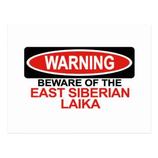 Beware Of East Siberian Laika Postcard