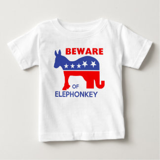 BEWARE OF ELEPHONKEY - activism/libertarian/usa Baby T-Shirt