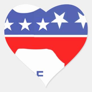 BEWARE OF ELEPHONKEY - activism/libertarian/usa Heart Sticker
