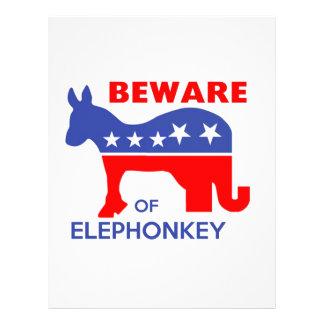 BEWARE OF ELEPHONKEY - activism/libertarian/usa Letterhead