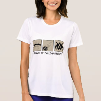 Beware of Falling Objects Ladie's Micro Fiber T Tshirts
