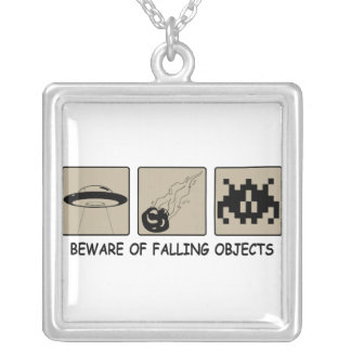 Beware of Falling Objects Necklace