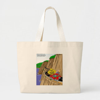 Beware Of Falling Signs Funny Gifts Cards Tees Etc Large Tote Bag