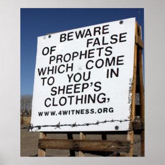 Beware of False Prophets Poster