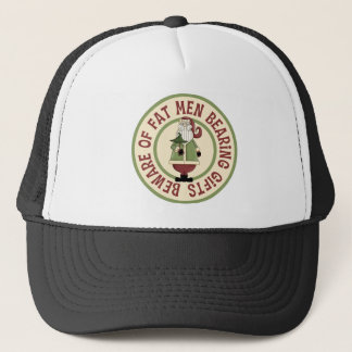 Beware Of Fat Men Funny Christmas Hat/Cap Trucker Hat