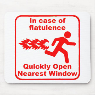 Beware of Flatulence! Mouse Pad