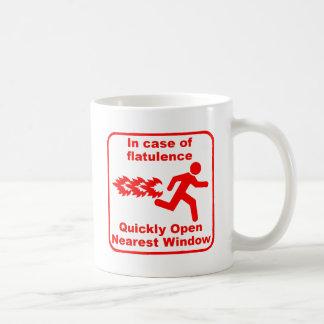 Beware of Flatulence! Coffee Mugs