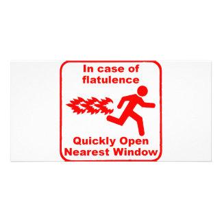 Beware of Flatulence! Customized Photo Card