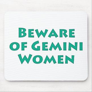 Beware of Gemini Women Mouse Pad