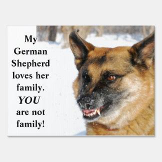 Beware of German Shepherd Humorous Yard Sign