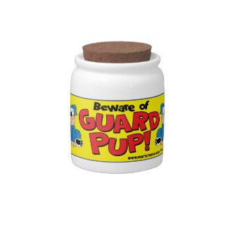 BEWARE OF GUARD PUP CANDY JAR