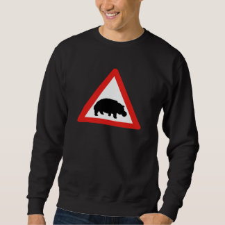 Beware of Hippopotamuses, Traffic, South Africa Sweatshirt