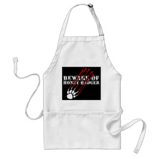 Beware of honey badger adult apron