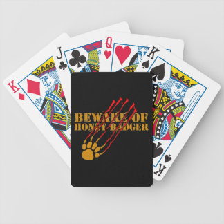 Beware of honey badger bicycle playing cards