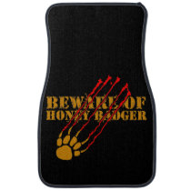 Beware of honey badger car mat