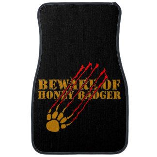 Beware of honey badger car mat
