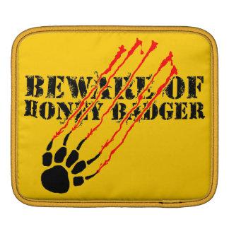 Beware of honey badger sleeve for iPads
