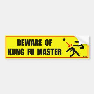 Beware of Kung Fu master Bumper Sticker