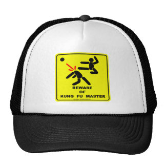BEWARE OF KUNG FU MASTER TRUCKER HAT