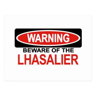 Beware Of Lhasalier Postcard