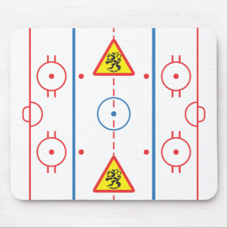 Beware of Lions Hockey Rink Mousepad