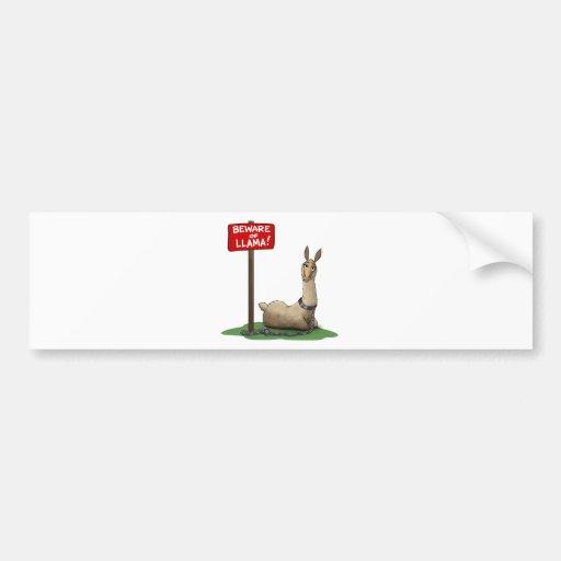 Beware of LLama! Bumper Stickers
