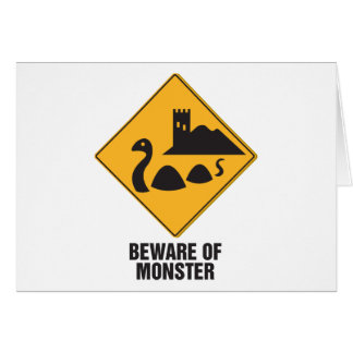 Beware Of Loch Ness Monster Card