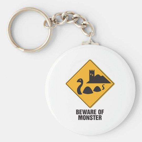 Beware Of Loch Ness Monster Keychain