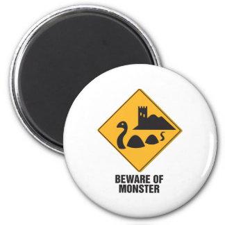 Beware Of Loch Ness Monster Magnet