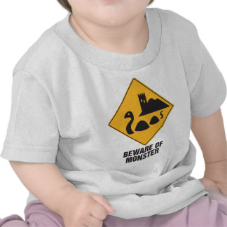 Beware Of Loch Ness Monster Tee Shirts