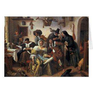 Beware of Luxury, c.1663 Card