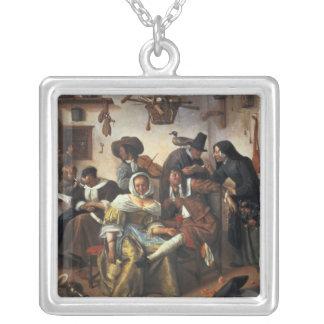 Beware of Luxury, c.1663 Square Pendant Necklace