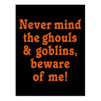 Beware of Me Halloween Postcard
