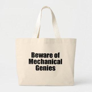 Beware of Mechanical Genies Jumbo Tote Bag